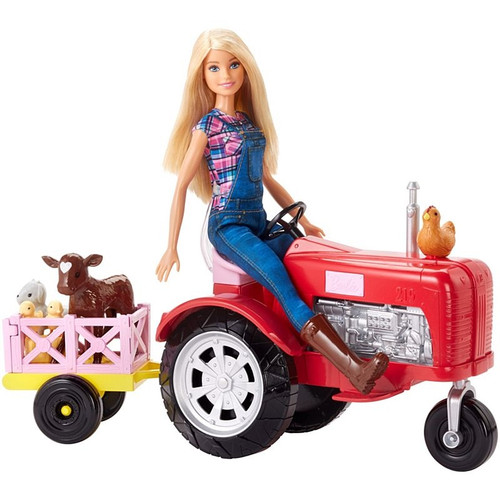 Barbie Doll & Tractor Set