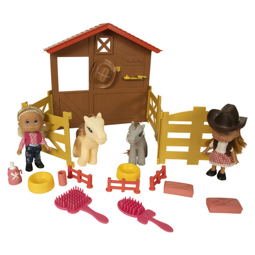 Group Sales- Western Cowgirl Horse Stable Play Set