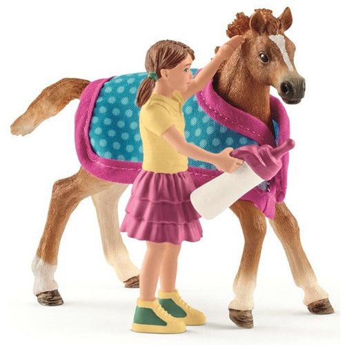Schleich- Foal With Blanket