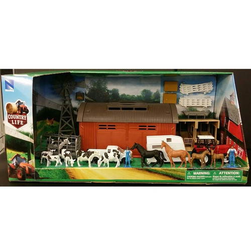 New Ray Toys - Deluxe Machine Shed Set