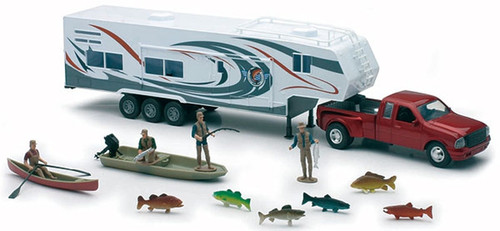 New Ray Toys - 1:32 Scale Pickup With Trailer and Fishing Set