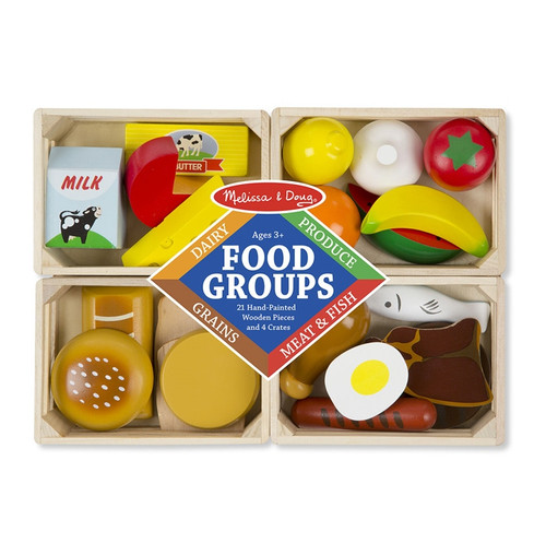 Melissa & Doug - Food Groups Wooden Play Food