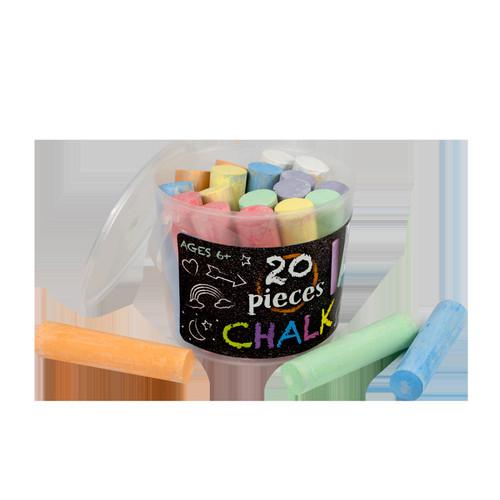 20 Piece Bucket of Sidewalk Chalk