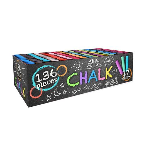136 Piece Bucket of Sidewalk Chalk