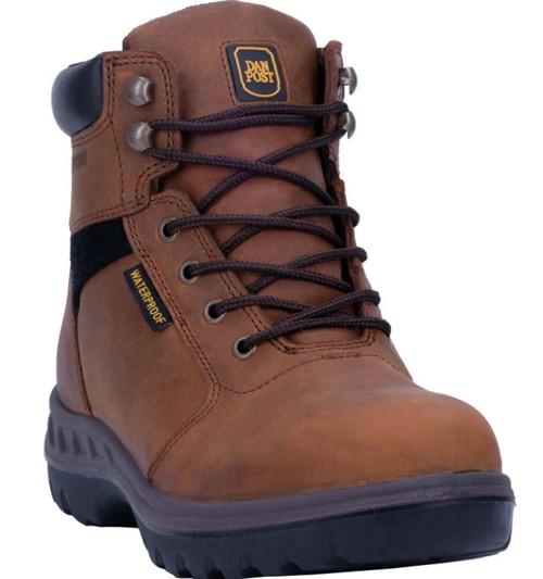 "Dan Post Mens Burgess Waterproof 6"" Lace Up Round Toe Boots"