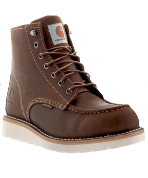 """Carhartt - Mens 6"""" Brown Waterproof Wedge Boots"""