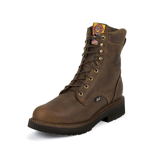 Justin - Men's Rugged Bay Gaucho Boots - Brown