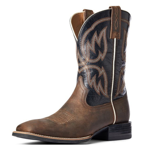 Ariat Mens Brown & Black Outliers Square Toe Boots