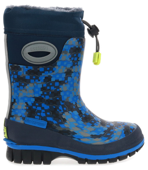 Western Chief Boys Youth Canyon Winterprene Blue Rainboot