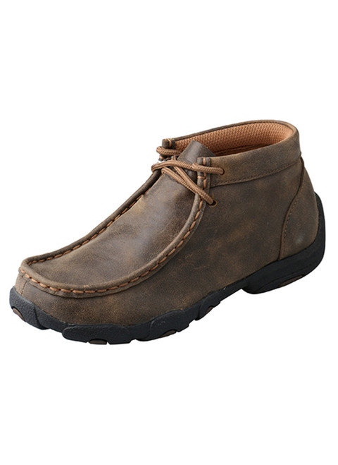 Twisted X - Children Unisex Brown Leather Mocs Casuals for Cowkids Boots