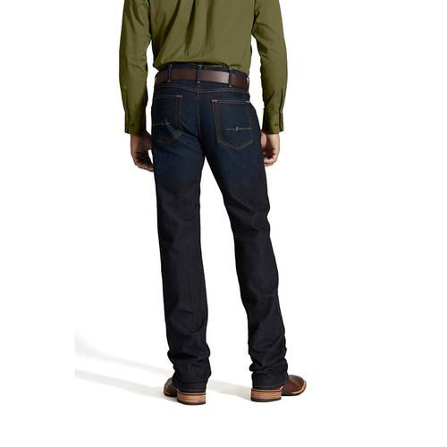 Ariat- M5 Slim Straight Leg Blackstone Rebar Jean- Dark Wash