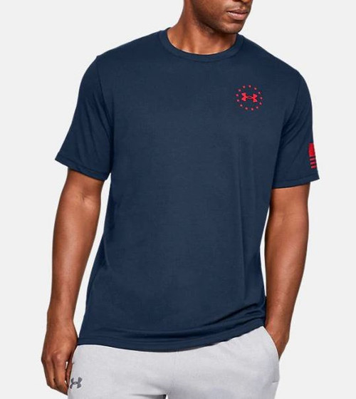 Under Armour Mens Freedom Flag T-Shirt Blue/Red