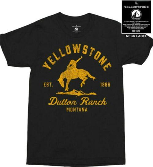 Yellowstone Mens Bucking Bronc Dutton Ranch Short Sleeve Shirt