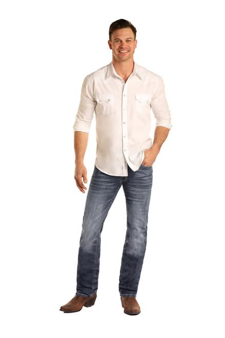 Rock & Roll Denim Mens Slim Fit ReFlex Revolver Straight Leg Jeans