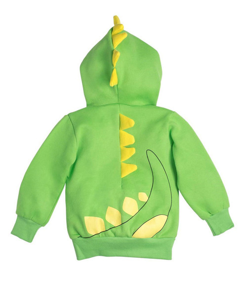 Doodle Pants Green Dino With Yellow Spikes 3D Hoodie