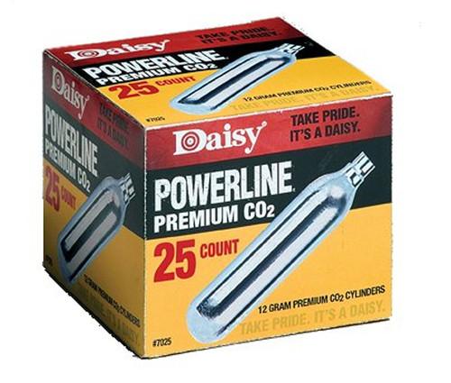 Daisy Powerline Premium 25pk CO2 Cylinders