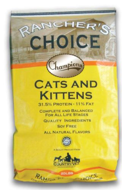 Country Vet Rancher's Choice Champions Cats & Kittens Soy-Free Cat Food - 40 lbs.