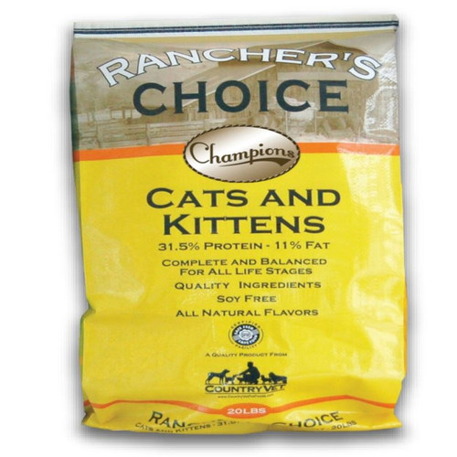 Country Vet Rancher's Choice Champions Cats & Kittens Soy-Free Cat Food - 20 lbs.