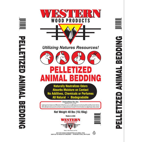 Western Wood Pelletized Animal Bedding 40 LB
