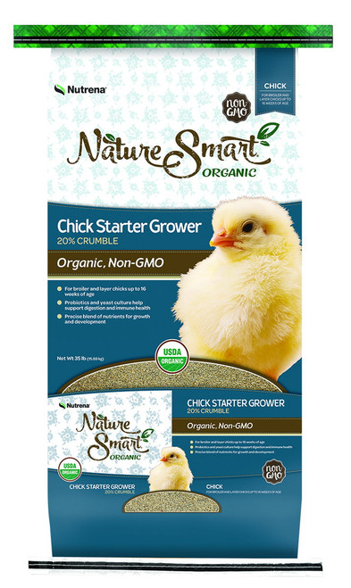 Nutrena Nature Smart Chick Starter Grower 20% Crumble - 35 lbs