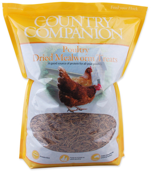 Country Companion Dried Mealworm Chicken Treats 5lbs