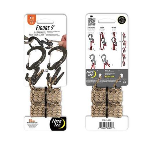 Nite Ize Figure 9 Carabiner Rope Tightener-Small