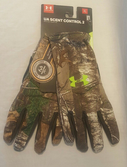 Under Armour - Mens Realtree Camo Scent Control Hunting Gloves