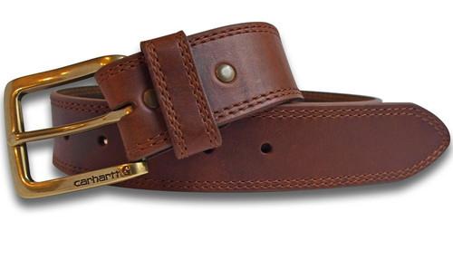 Carhartt Mens Hamilton Brown Leather Belt