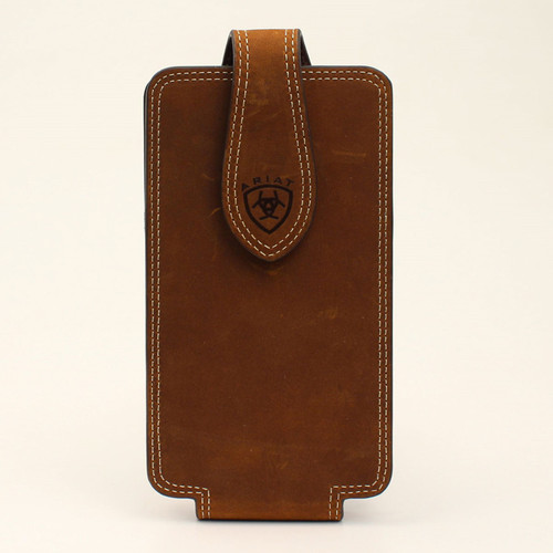 Ariat Brown Double Stitched Cell Phone Case