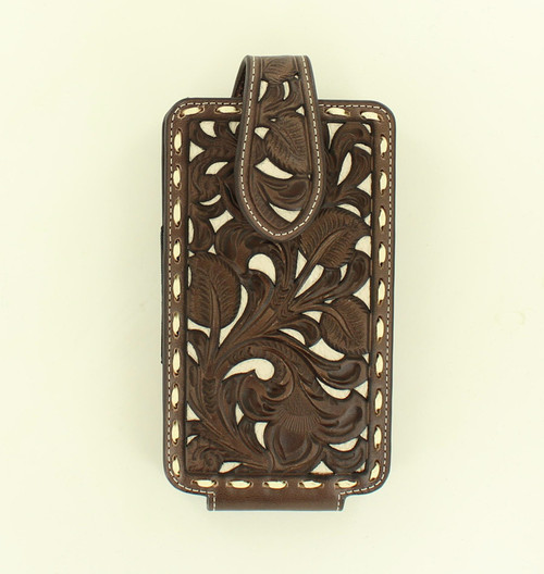 M&F Western - Nocona Brown With Ivory Cell Phone Case