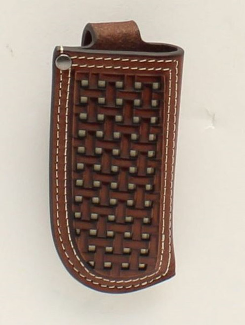 Ariat Leather Basket Weave Embossed Knife Sheath