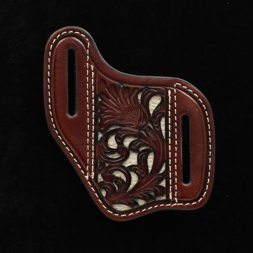 M&F Nocona Leather Brown & Ivory Knife Sheath