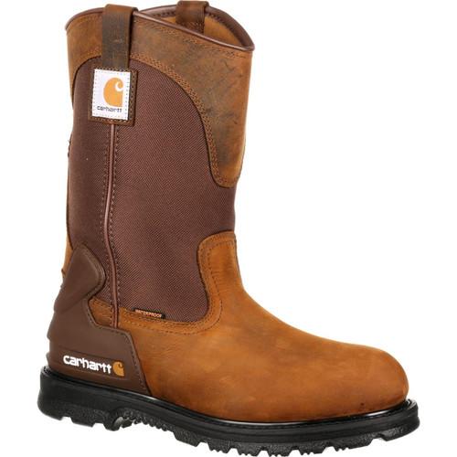 "Carhartt Mens 11"" Waterproof Steel Toe Wellington Work Boot"