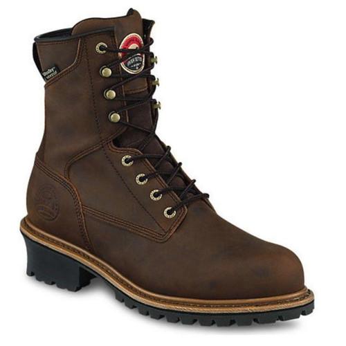 "Irish Setter Mens Mesabi 8"" Waterproof Leather Safety Toe Logger Boot"