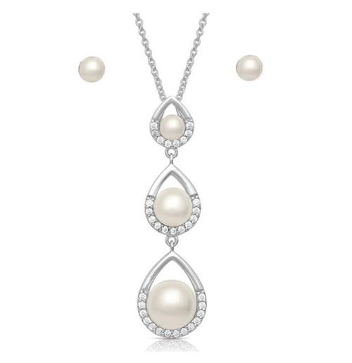 Montana Silversmiths Perfect Pearl Teardrop Jewelry Set