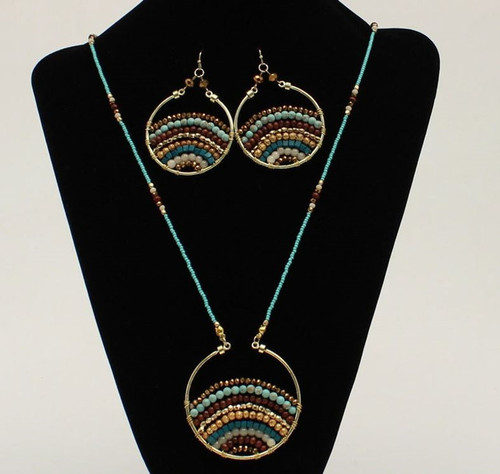 Blazin Roxx Multi Color Beaded Necklace Set
