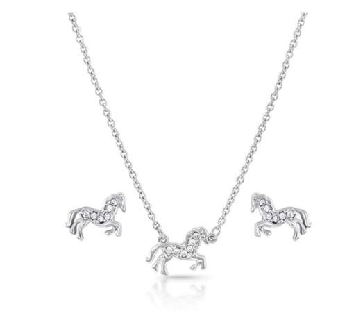 Montana Silversmiths All The Pretty Horses Jewelry Set