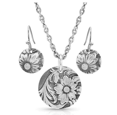 Montana Silversmiths Art Of The Buckle Jewelry Set