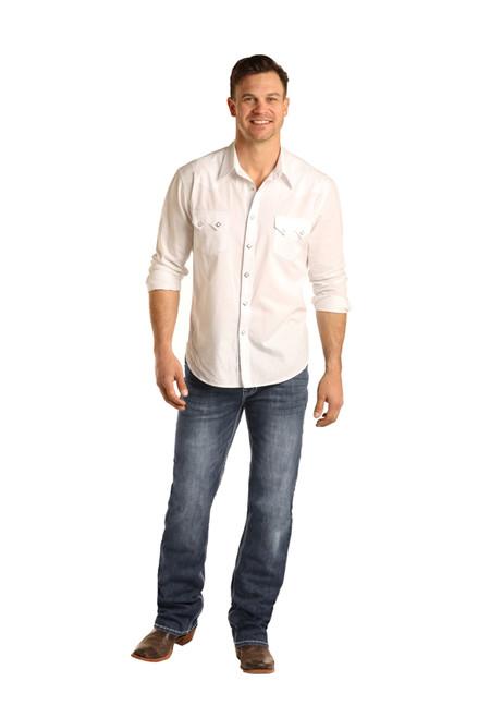 Rock & Roll Denim Mens ReFlex Straight Leg Double Barrel Jeans