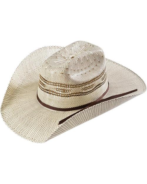 M&F Western - Twister Two Tone Bangora Straw Childrens Cowboy Hat