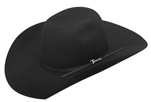 Twister Youth Black Wool Cowboy Hat