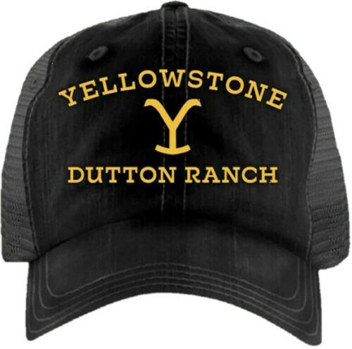 Yellowstone Black Dutton Ranch Logo Ball Cap