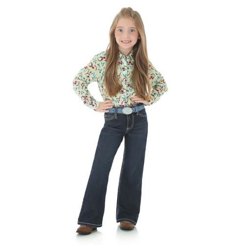 Wrangler - Girls Dark Blue Boot Cut Jeans