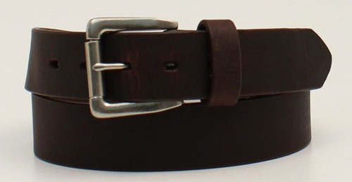 Nocona Mens HDX Brown Leather Belt