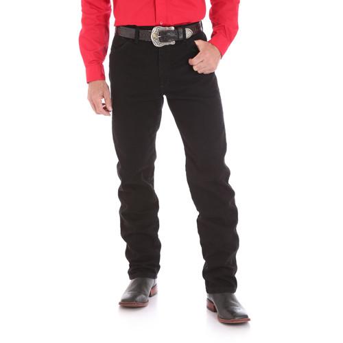 Wrangler Mens Cowboy Cut Original Fit PreWashed Jeans - Black