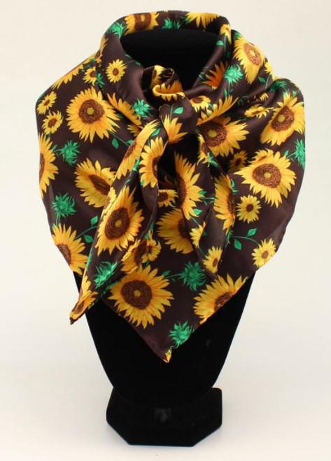 M&F Sunflower Print Wild Rag