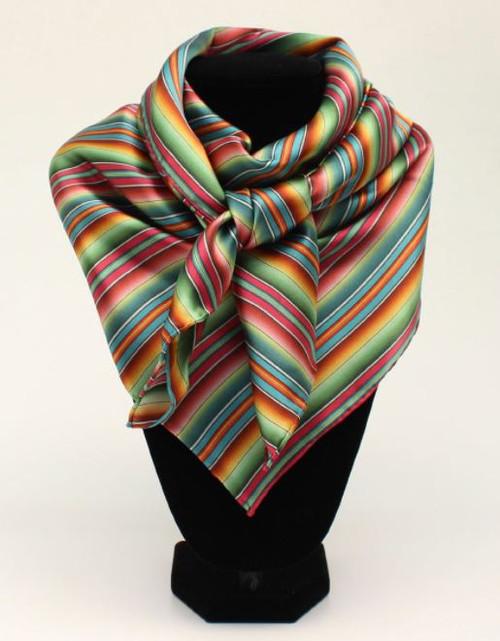 M&F Multi-Color Stripe Silk Wild Rag