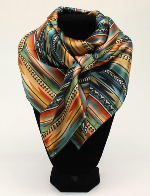 M&F Aztec Multi Color Silk Wild Rag