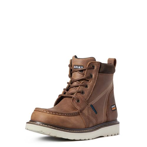 Ariat Womens Rebar Wedge Aged Honey Waterproof Moc Toe Boots