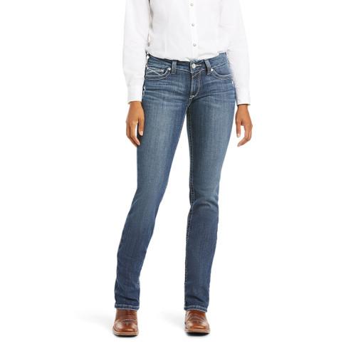 Ariat Womens R.E.A.L. Mid Rise Arrow Gianna Straight Leg Jean - Stryker